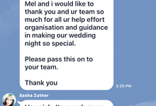 Testimonial from clients and artist by Bali Eve Wedding & Event Planner