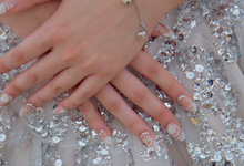 Aris and Cindy Wedding Nails by Vinna Christina Wedding Nails