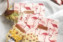 Maya dan Adrian Flamingo Pouches by ZEITGEIST