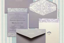 Joey & Matt Wedding Invitations by Blue Label Invitation