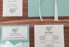 Tiffany & Co inspired wedding invitation by La Grazia Wedding & Party Supplies