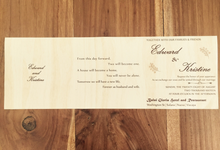 Laser cut invitation by La Grazia Wedding & Party Supplies