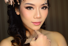Marcella angelia sweet17th Greek theme  by Ciel Makeup Artist