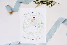 Birth Announcement Card by Belle Pivoine