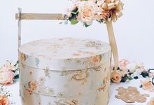 Pastel Cheongsam Sangjit Box & Basket by Sentra Bunga