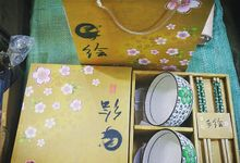 Premium Bowl And Chopstick Set by Alleriea Wedding Gifts