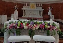 Decor Kapel Santamaria Juanda by nanami florist