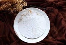 Adrian & Julia menu by Vinas Invitation