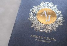 Adrian & Julia by Vinas Invitation