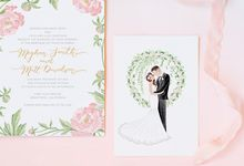 Personalized Wedding Invitation by Belle Pivoine