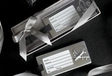 Luggage Tag Metal - Flair and Aeroplane Design by Red Ribbon Gift
