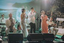 WEDDING OF MICHAEL AND APRILIA AT ULUWATU COTTAGES by LOVA BAND ENTERTAINMENT BALI