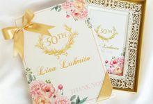 Shiny Rhinestone Silver Photo Frame - Lina Lukmito by Red Ribbon Gift